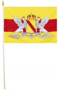 Stock-Fahne - Wappen Baden - Gr. ca. 40 x 30cm - 07559 - Flagge mit Holzstock