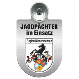 Einsatzschild Windschutzscheibe incl. Saugnapf - Jagdpächter im Einsatz - 09757 - Region Niedersachsen
