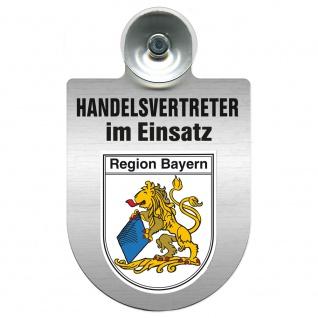 Einsatzschild Windschutzscheibe incl. Saugnapf - Handelsvertreter im Einsatz - 309367 Region Bayern