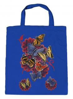 (U09842)Umweltfreundliche Baumwoll - Tasche , ca. 28 x 43 cm mit Aufdruck in 7 Farben blau