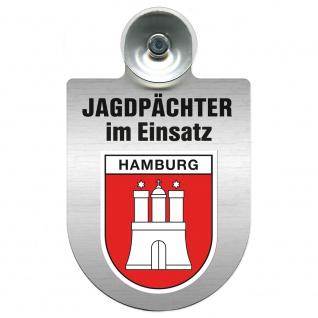Einsatzschild Windschutzscheibe incl. Saugnapf - Jagdpächter im Einsatz - 09757 - Region Hamburg