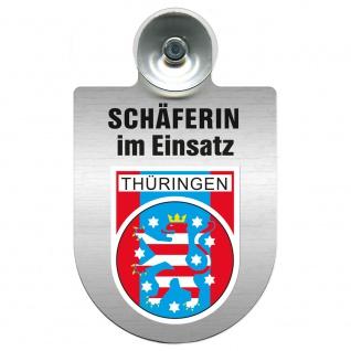 Einsatzschild Windschutzscheibe incl. Saugnapf - Schäferin im Einsatz - 309459 Region Thüringen