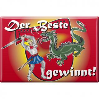 Küchenmagnet - Der Beste gewinnt - Gr. ca. 8 x 5, 5 cm - 38848 - Kühlschrankmagnet Magnet