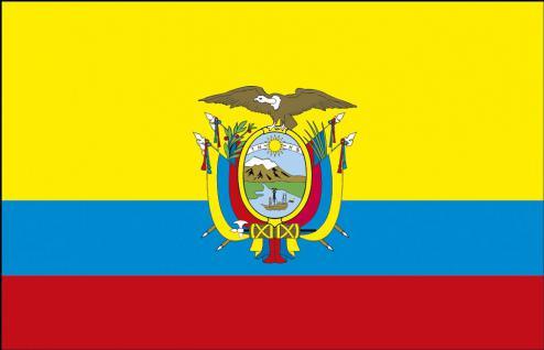 Auto-Fahne - Ecuador - Gr. ca. 40x30cm - 78044 - Länderfahne mit Klemmstab - Flagge Autoländerfahne