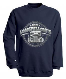 Sweatshirt mit Print - Longfellows - versch. farben zur Wahl - S10281 - Gr. Navy / XXL