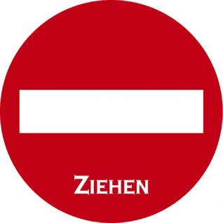 PVC-Aufkleber - Ziehen - Durchmesser 70 mm - 308012/1 rot