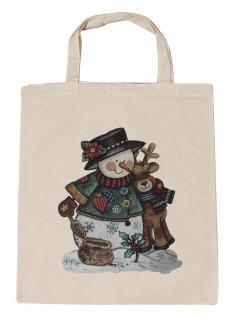 (08903/1-natur) Umweltfreundliche Baumwoll - Tasche , ca. 28 x 43 cm mit Aufdruck