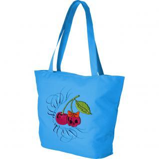 Modische Lifestyle- Tasche mit Motiv- Stickerei - Kirschen - 08962 - Shopper Ticiana Montabri Tragetasche