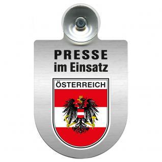 Einsatzschild Windschutzscheibe incl. Saugnapf - Presse im Einsatz - 309456-20 Region Österreich