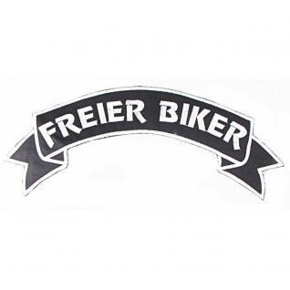 Rückenaufnäher - Freier Biker - Gr. ca. 7x28cm (08517) Aufnäher Stick Patches Applikation Biker Trucker Motorradfahrer