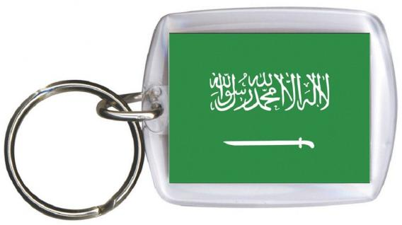 Schlüsselanhänger Anhänger - SAUDI ARABIEN - Gr. ca. 4x5cm - 81143 - Keyholder WM Länder