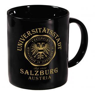 Tasse mit Print Universitätsstadt Salzburg 57641 schwarz