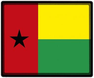 Mousepad Mauspad mit Motiv - Guinea-Bissau Fahne - 82059 - Gr. ca. 24 x 20 cm