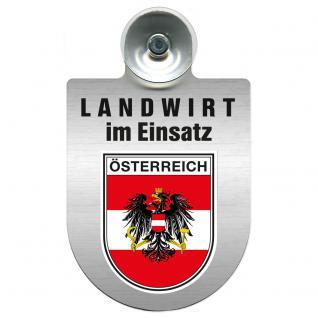 Einsatzschild Windschutzscheibe incl. Saugnapf - Landwirt in Einsatz - 309369-20 - Region Österreich
