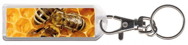 Karabiner Schlüsselanhänger - Bienenhonig... - Gr. ca. 25x70mm - 13281 - keyholder mit Karabiner