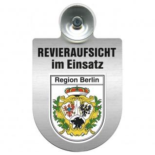 Einsatzschild Windschutzscheibe incl. Saugnapf - Revieraufsicht im Einsatz - 309759 Region Berlin
