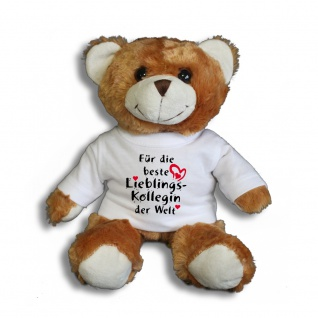 Teddybär mit T-Shirt - für die beste Lieblingskollegin der Welt Gr. ca. 26 cm - 27004