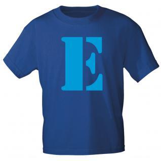 "Marken T-Shirt mit brillantem Aufdruck "" E"" 85121-E"