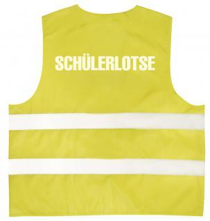 Warnweste mit Aufdruck - SCHÜLERLOTSE - 11581 gelb Gr. 2XL