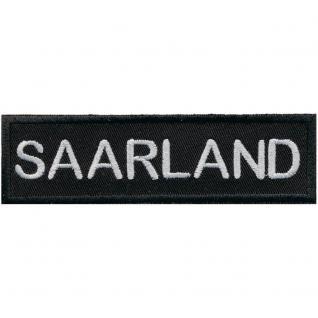 AUFNÄHER - SAARLAND - 00027 - Gr. ca. 11, 5 x 3, 5 cm - Patches Stick Applikation