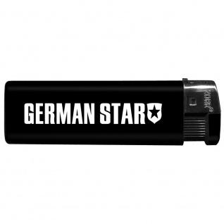 Einwegfeuerzeug mit Motiv - Trucker - German Star - 01159 versch. Farben schwarz