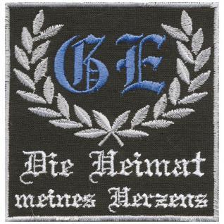 Aufnäher Abzeichen - (Gelsenkirchen) GE - Die Heimat meines Herzens - Gr. ca. 8cm x8cm (03213)