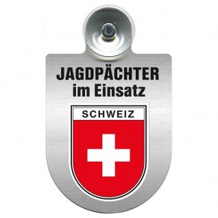 Einsatzschild Windschutzscheibe incl. Saugnapf - Jagdpächter im Einsatz - 09757 - Region Schweiz