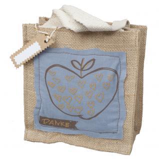 Geschenktasche Natur - Danke - 29047 - Shopper Einkaufstasche