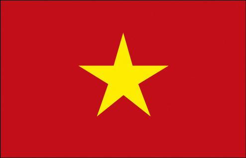 Schwenkfahne mit Holzstock - Vietnam - Gr. ca. 40x30cm - 77185 - Flagge, Dekofahne, Stockländerfahne