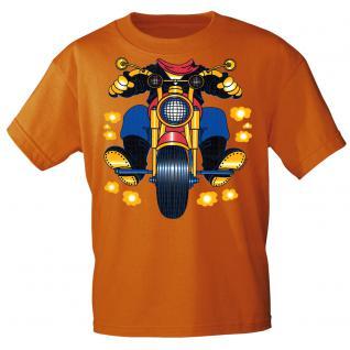 Kinder Marken-T-Shirt mit Motivdruck in 13 Farben Motorrad K12780 98/104 / Orange