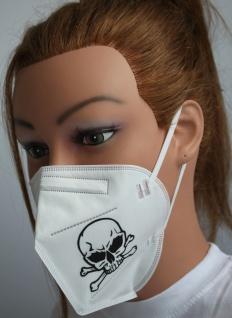 1x FFP2 Maske Deutsche Herstellung CE2797 zertifiziert mit Aufdruck - Totenkopf Skull