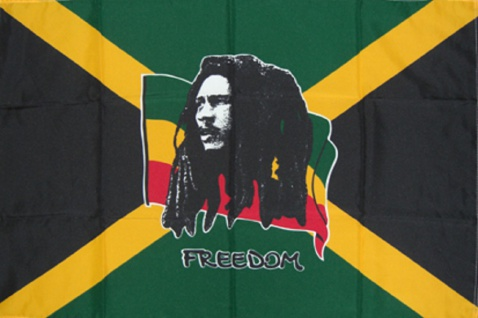 Flagge mit Motiv - Bob Marley - Gr. 150cm x 90cm - 24305 - Dekoflagge