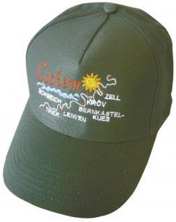 Baseball-Cap mit farbiger Stickerei - Cochem Mosel - 68884 schwarz - Baumwollcap Cappy Baseballcap Schirmmütze