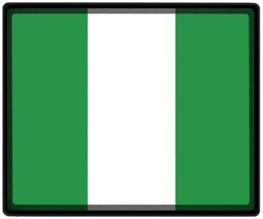 Mousepad Mauspad mit Motiv - Nigeria Fahne Fußball Fußballschuhe - 82121 - Gr. ca. 24 x 20 cm