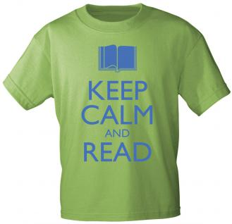 T-SHIRT mit Aufdruck - Keep calm and read - 12904 - Gr. S