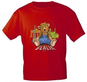 Kinder T-Shirt mit Print BERLIN K06891 rot Gr. 152/164
