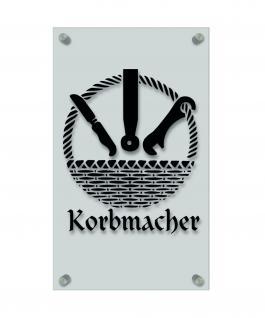 Zunftschild Handwerkerschild - Korbmacher - beschriftet auf edler Acryl-Kunststoff-Platte ? 309426 schwarz