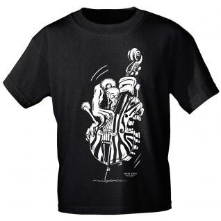 Designer T-Shirt - Bass Geier - von ROCK YOU MUSIC SHIRTS - 10163 - Gr. S - XXL