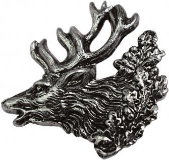"""Anstecknadel - PIN Anstecknadel Brosche """" HIRSCH GEWEIH"""" NEU Gr. ca. 3 x 2, 9cm (02680)"""