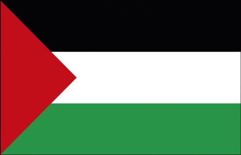 Schwenkfahne mit Holzstock - Palästina - Gr. ca. 40x30cm - 77125 - Länderfahne, Stockländerfahne