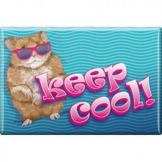 Kühlschrankmagnet - Keep cool - Hamster - Gr. ca. 8 x 5, 5 cm - 38494 - Magnet Küchenmagnet