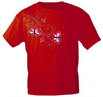 (12853) T- Shirt mit Glitzersteinen Gr. S - XXL in 16 Farben rot / S
