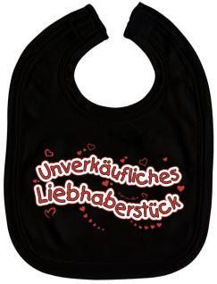 Baby-Lätzchen mit Druckmotiv - Unverkäufliches... - 07074 - schwarz