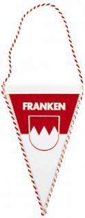Auto Fahne - FRANKEN - Gr. ca. 8x13cm - 07749 - großer Wimpel