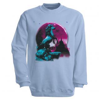 """Sweat- Shirt mit Motivdruck in 6 Farben """" Einhorn"""" S12666 hellblau / L"""