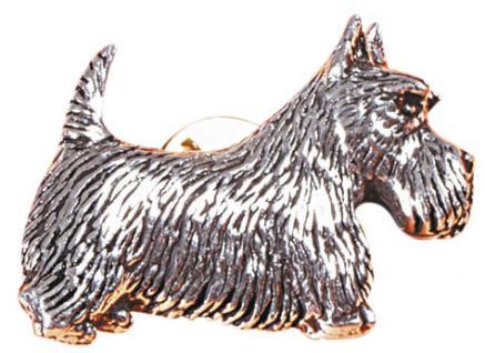 Anstecknadel - Metall - Pin - Schottischer Terrier - Hund - 02621