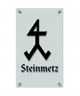 Zunftschild Handwerkerschild - Steinmetz - beschriftet auf edler Acryl-Kunststoff-Platte ? 309432 schwarz