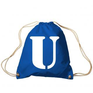 "Trend-Bag Turnbeutel Sporttasche Rucksack mit Print "" U"" 65091-U"