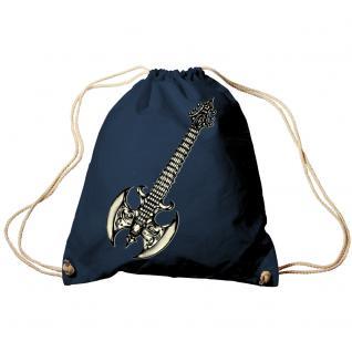 Trend-Bag Turnbeutel Sporttasche Rucksack mit Print - Gitarre Elektrogitarre - TB10852 Navy