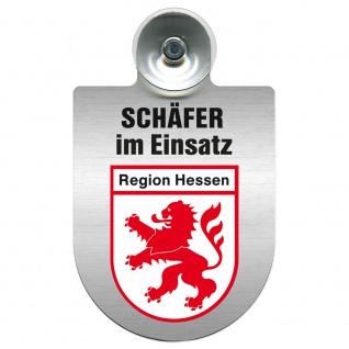 Einsatzschild Windschutzscheibe incl. Saugnapf - Schäfer im Einsatz - 309387 - Region Hessen